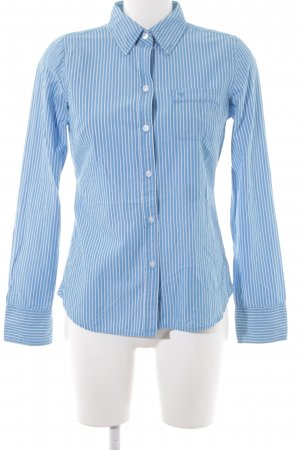 American Eagle Outfitters Long Sleeve Shirt cadet blue-natural white