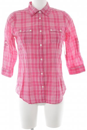American Eagle Outfitters Langarmhemd pink-weiß Casual-Look