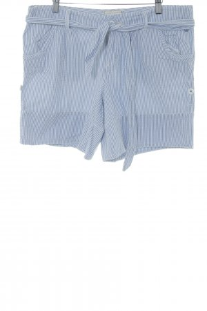 American Eagle Outfitters Pantalón corto tipo peto blanco-azul celeste