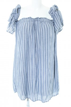 American Eagle Outfitters Camicetta lunga blu-bianco motivo a righe stile casual