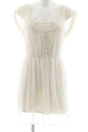 American Eagle Outfitters Mini vestido crema estilo romántico