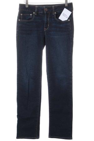 American Eagle Outfitters Röhrenhose dunkelblau Casual-Look