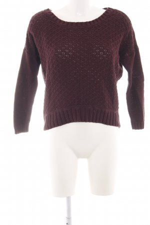 American Eagle Outfitters Rundhalspullover braun Casual-Look