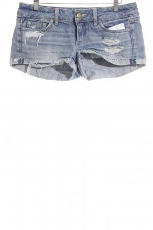 American Eagle Outfitters Shorts blau Street-Fashion-Look