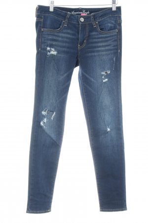 American Eagle Outfitters Stretch Jeans dunkelblau Casual-Look