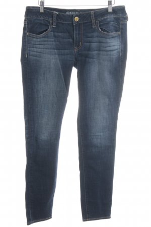 American Eagle Outfitters Stretch Jeans dunkelblau Street-Fashion-Look