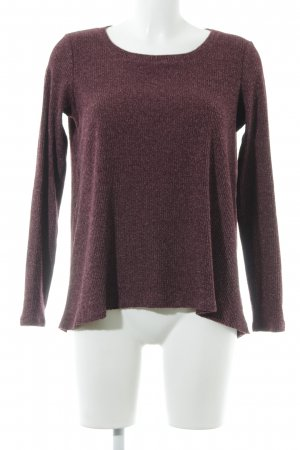 American Eagle Outfitters Strickpullover brombeerrot meliert Casual-Look