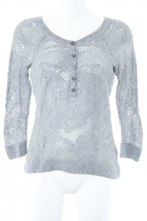 American Eagle Outfitters Knitted Sweater grey loosely knitted pattern