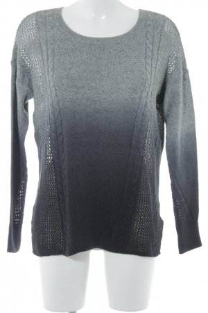 American Eagle Outfitters Strickpullover grau-schwarz Farbverlauf Casual-Look