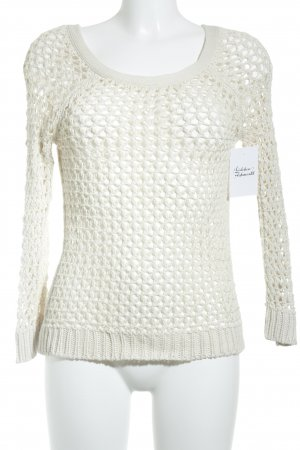 American Eagle Outfitters Knitted Sweater natural white classic style