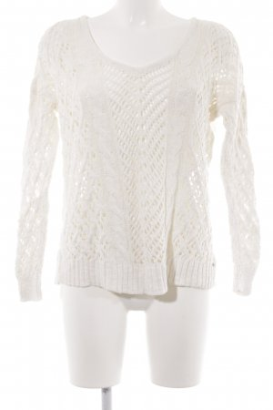 American Eagle Outfitters Knitted Sweater natural white loosely knitted pattern
