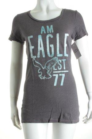 American Eagle Outfitters T-Shirt anthrazit Schriftzug gedruckt