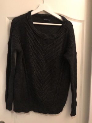 American Eagle Outfitters Pull tricoté noir-gris anthracite