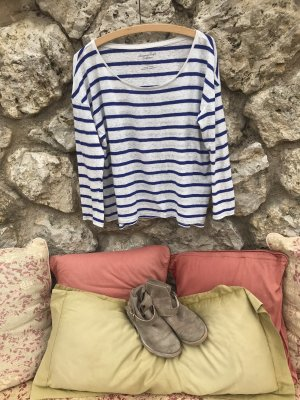American Eagle Outfitters Gestreept shirt wolwit-donkerblauw