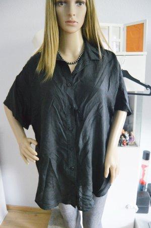 American eagle schwarze seiden bluse gr.XL