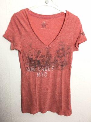 American Eagle T-Shirt orange New York orange