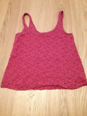 American Eagle Top rot spitze tanktop
