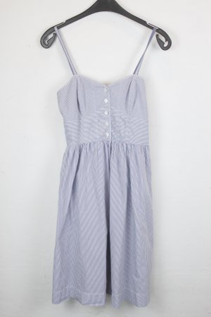 American Eagle Outfitters Pinafore dress blue-white cotton