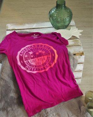 American Eagle Outfitters Camiseta violeta-rosa neón