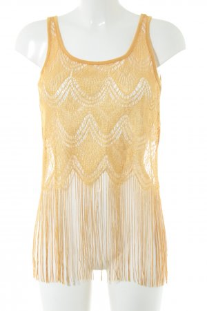 American Rag CIE Lace Top gold-colored elegant