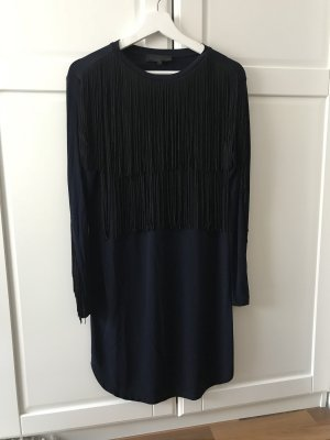 American Retro Evening Dress black-dark blue