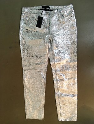 American Retro 7/8 Length Trousers silver-colored leather