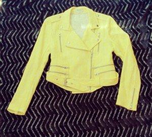 *American Retro Sommer Damen Blazer Jacke Bikerjacke Gr. S 36, gelb ,Spitze*