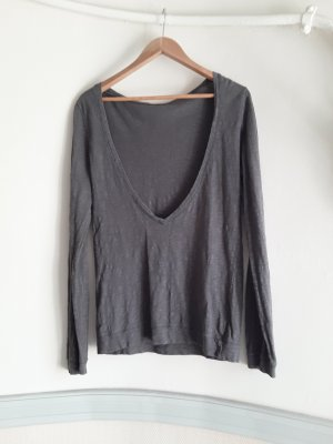 American Vintage Oversized Shirt dark grey