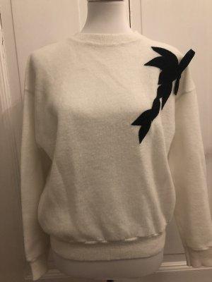 American Vintage Kraagloze sweater wit-zwart