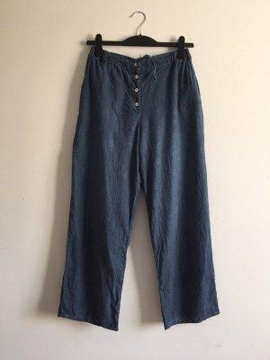American Vintage blaue Hose aus Baumwolle Wideleg lockerer Sitz