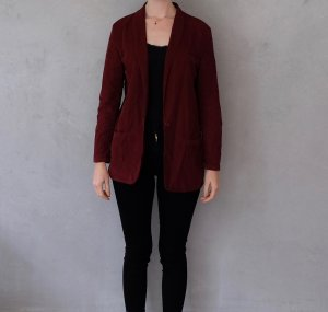 American Vintage Knitted Blazer blackberry-red cotton