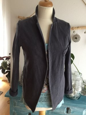 American Vintage Blazer de tela de sudadera gris oscuro