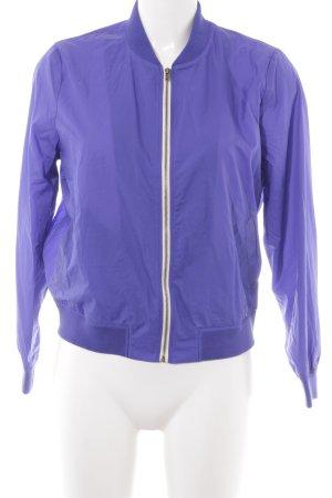 American Vintage Blouson blauviolett-wollweiß Casual-Look
