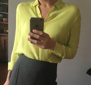 American Vintage Blusa de manga larga amarillo neón Seda