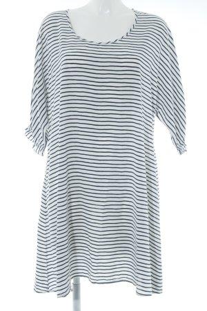 American Vintage Abito blusa bianco-blu scuro motivo a righe stile marinaro