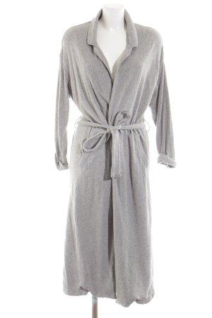American Vintage Cappotto lungo fino a terra grigio chiaro puntinato