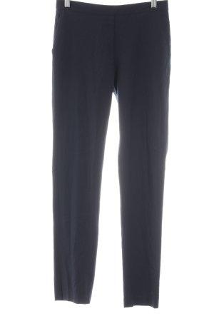 American Vintage Bundfaltenhose dunkelblau Business-Look