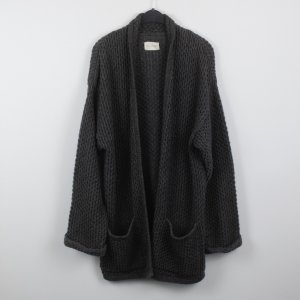 American Vintage Coarse Knitted Jacket dark grey mixture fibre