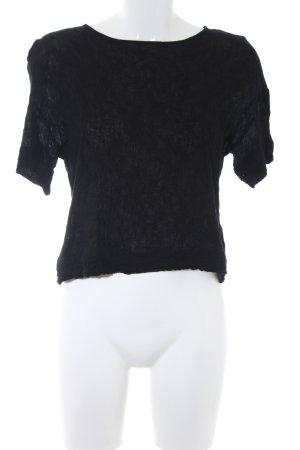 American Vintage Camisa recortada negro look casual