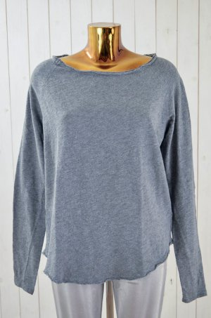 AMERICAN VINTAGE Damen Sweatshirt Sweater Grau Melange Vintage Look Baumwolle L