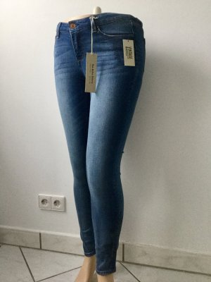 American Vintage Skinny Jeans steel blue cotton