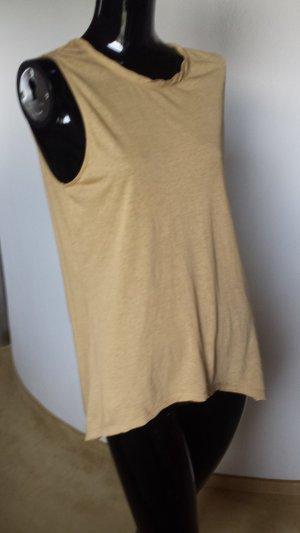 American Vintage Camisa larga marrón arena Algodón