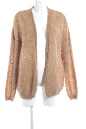 American Vintage Veste tricotée en grosses mailles beige style décontracté