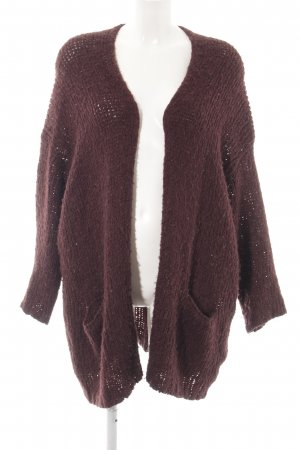 American Vintage Coarse Knitted Jacket brown fluffy