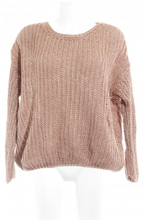 American Vintage Grobstrickpullover apricot Lochstrickmuster Casual-Look
