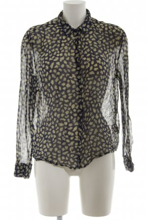 American Vintage Shirt Blouse black-khaki abstract pattern casual look