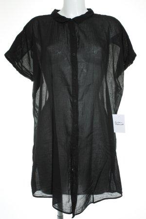 American Vintage Hemd-Bluse schwarz klassischer Stil