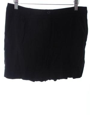 American Vintage Pantalón corto de talle alto negro elegante