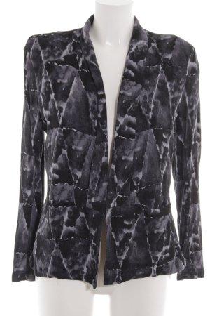 American Vintage Blazer in jersey nero-grigio chiaro stampa integrale