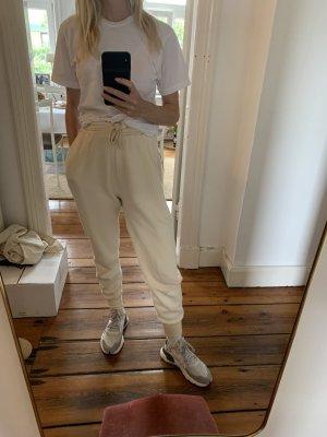 American Vintage Pantalone da ginnastica crema Cotone